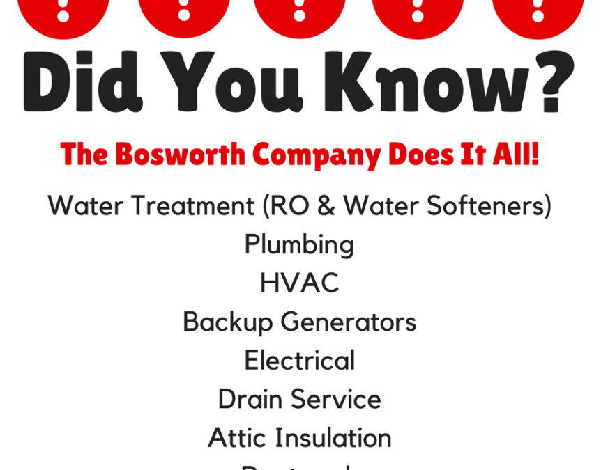 Bosworth Services: Did You Know?